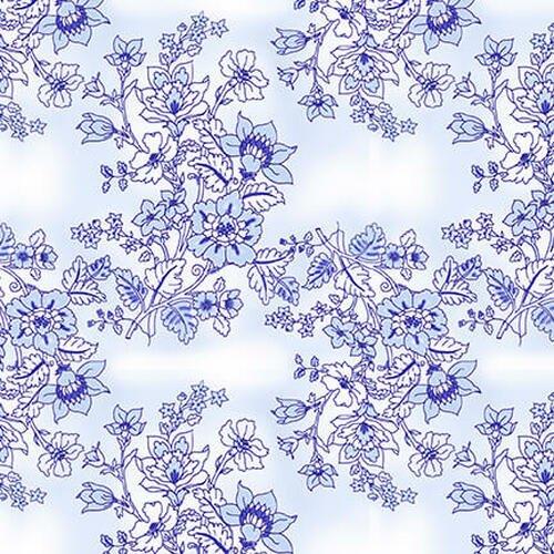 BLUE JUBILEE - LT. BLUE FLORAL TOILE