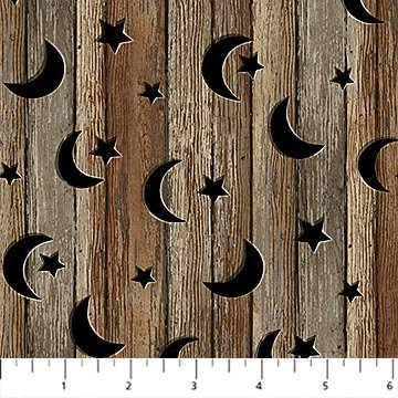 NATURE'S CALLING WOOD WITH STARS BROWN MULTI