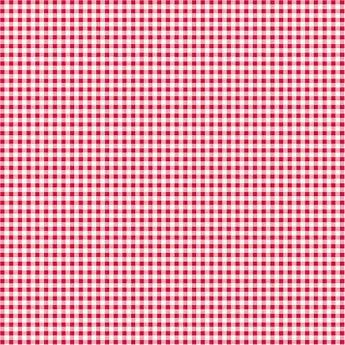 WARP & WEFT HOLIDAY-MINI GINGHAM PEPPERMINT
