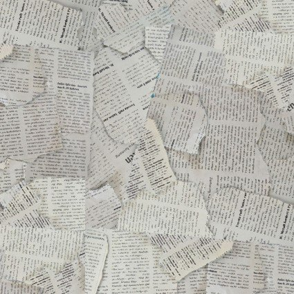 THE GREAT OUTDOORS NEWSPAPER PRINT