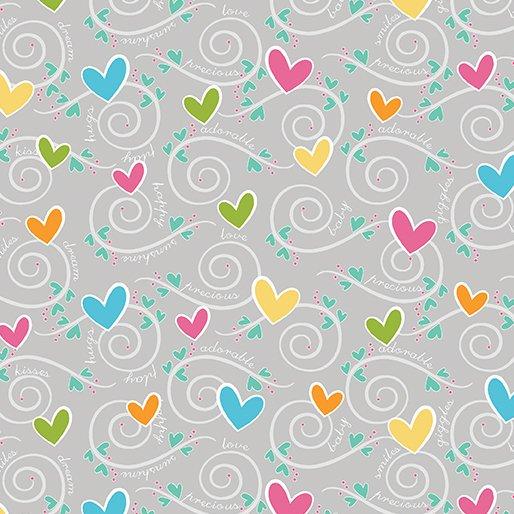 HEARTS & SWIRLS GREY