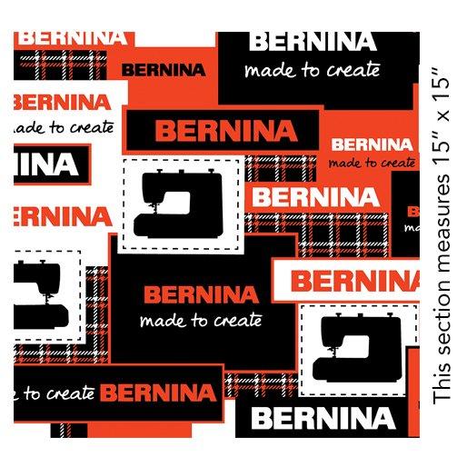 BERNINA LOGOS BLACK/RED