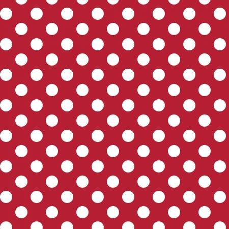 KIMBERBELL BASICS RED WHITE DOTS