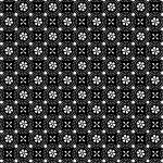 KIMBERBELL BASICS BLACK WHITE FLOWERS