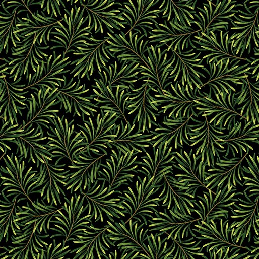 BOUGHS OF BEAUTY 108 WIDE BLK/GREEN