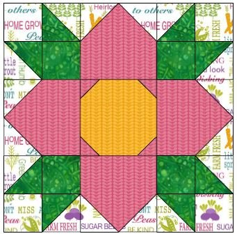 BLOSSOM BLOCK CUTTING DIRECTIONS & TEMPLATE
