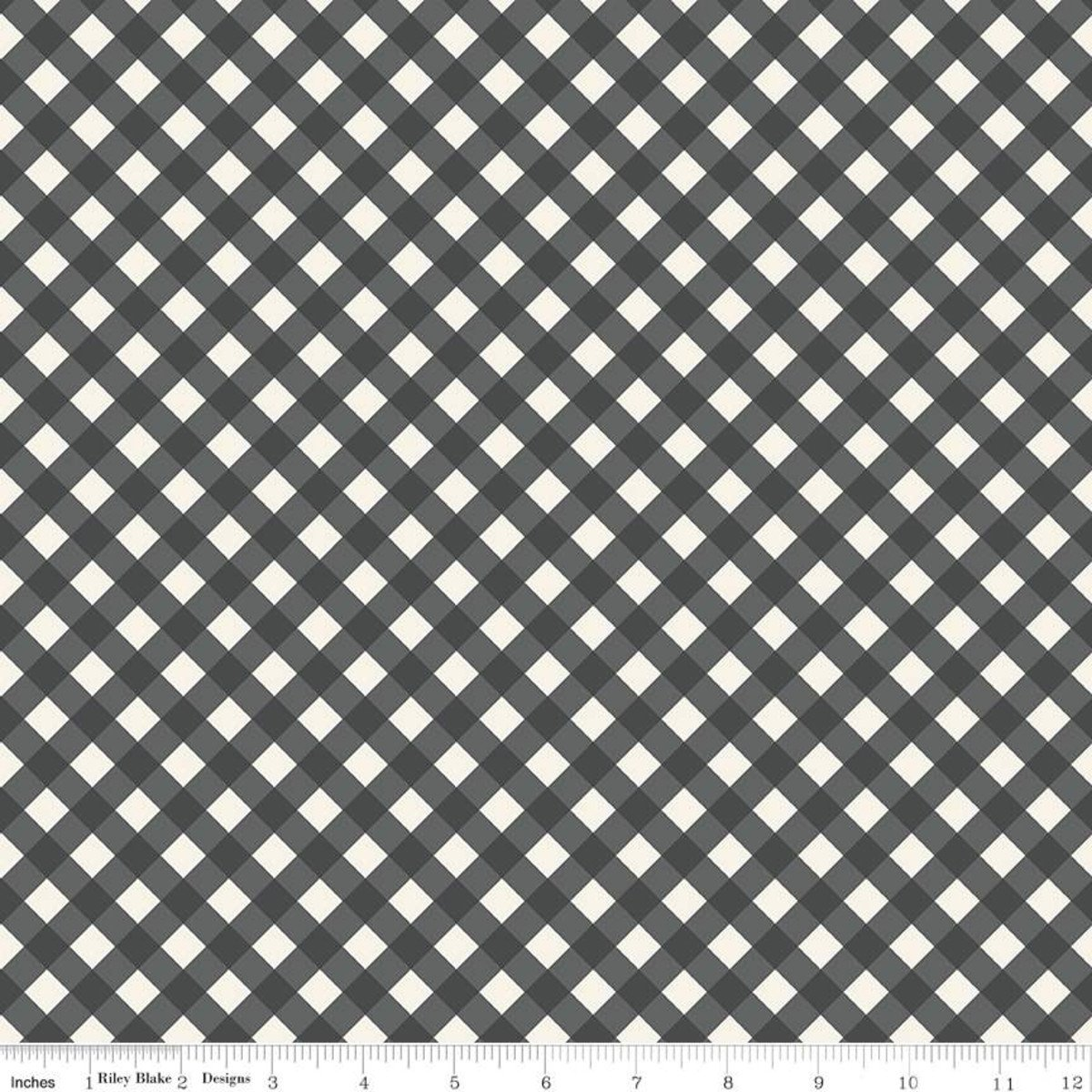 GINGHAM GARDENS CHARCOAL