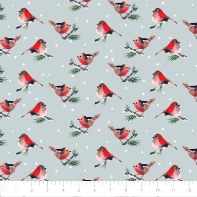 WINTER WOODS-BIRDS