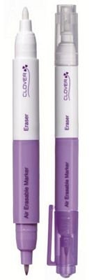 CLOVER AIR ERASABLE MARKER WITH ERASER PURPLE