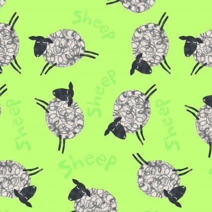 ANIMAL MAGIC DOT SHEEP LIME