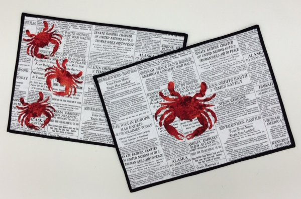 CRAB PLACEMATS KIT