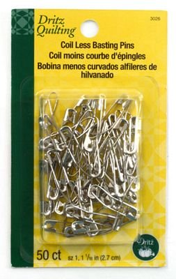 CURVED SAFETY PINS SZ-1 (50 PCS)