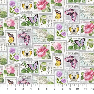 SCENTED GARDEN DIGITAL PRINT STAMPS LIGHT GRAY