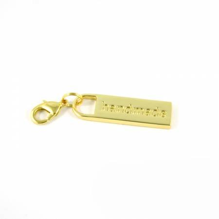 ZIPPER PULL HANDCRAFTED GOLD