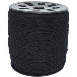 BANDED STRETCH ELASTIC 1/6 BLACK -10 YD PUT UP