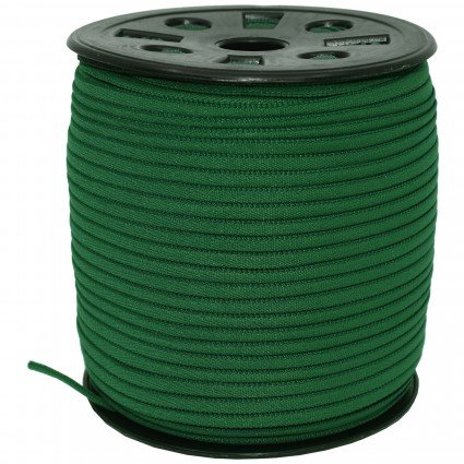 BRAIDED ELASTIC 1/6 DARK GREEN
