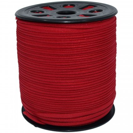 BANDED STRETCH ELASTIC 1/6 RED - 10 YD PUT UP