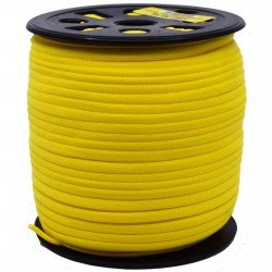 BANDED STRETCH ELASTIC 1/6 YELLOW - 10YD PUT UP