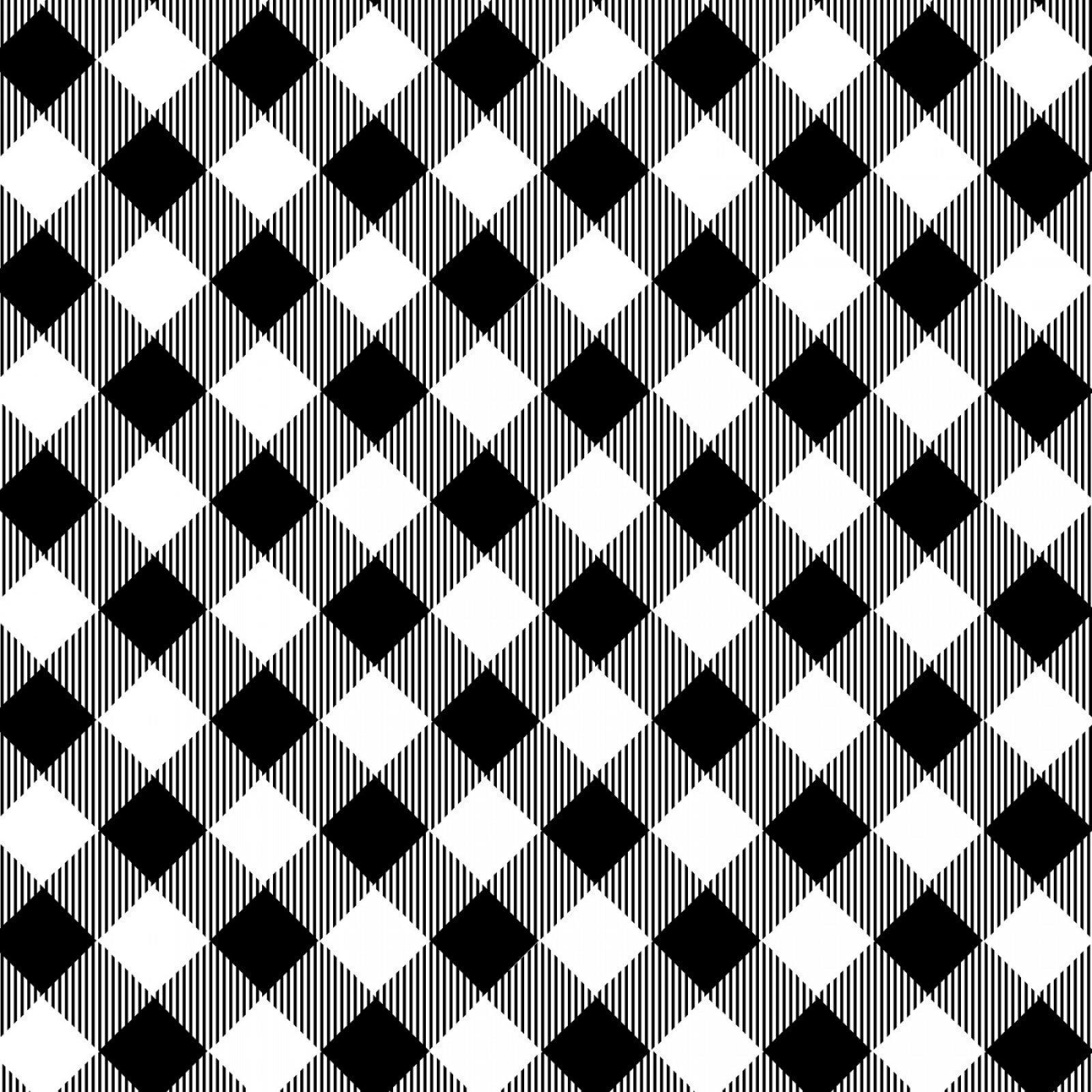 PRISCILLA'S PRETTY PLAIDS - BLK/WHITE
