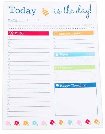 TODAY IS THE DAY NOTE PAD