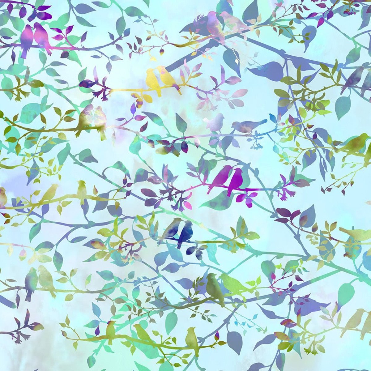 GARDEN OF DREAMS-BIRDS SOFT SKY