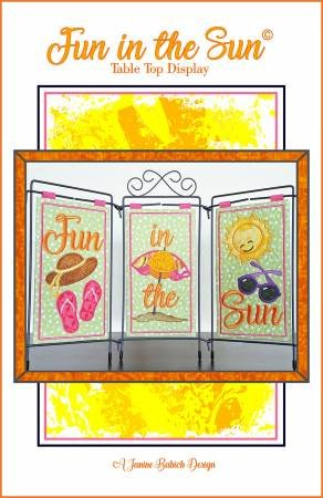 FUN IN THE SUN JANINE BABICH DESIGNS EMB. CD PATTERN