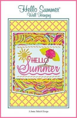 HELLO SUMMER JANINE BABICH DESIGNS EMB. CD PATTERN