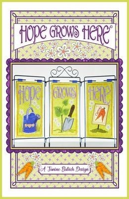 HOPE GROWS HERE JANINE BABICH DESIGNS TABLE TOP DISPLAY EMB. CD PATTERN