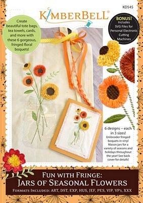 KIMBERBELL FUN W/FRINGE JARS OF SEASONAL FLOWERS