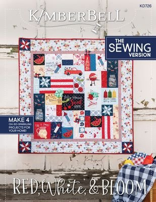 KB SEWING RED, WHITE & BLOOM
