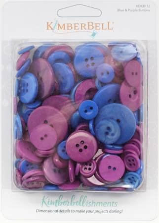 KIMBERBELL BUTTON SET BLUE & PURPLE