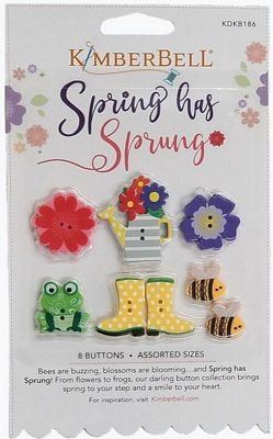 SPRING HAS SPRUNG BUTTONS