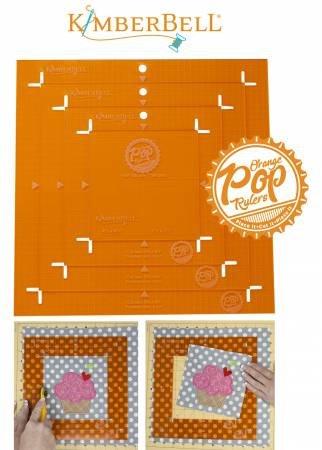 Orange Pop Rulers Square Set