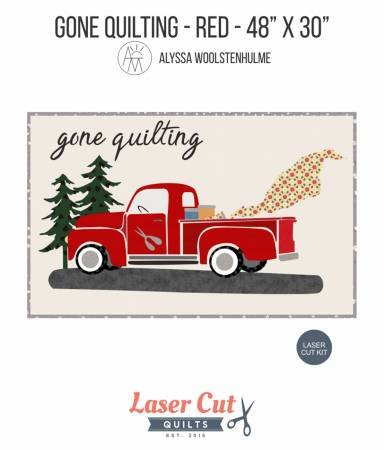 GONE QUILTING  FIREHOUSE RED LASER CUT QUILT KIT 48 X 30