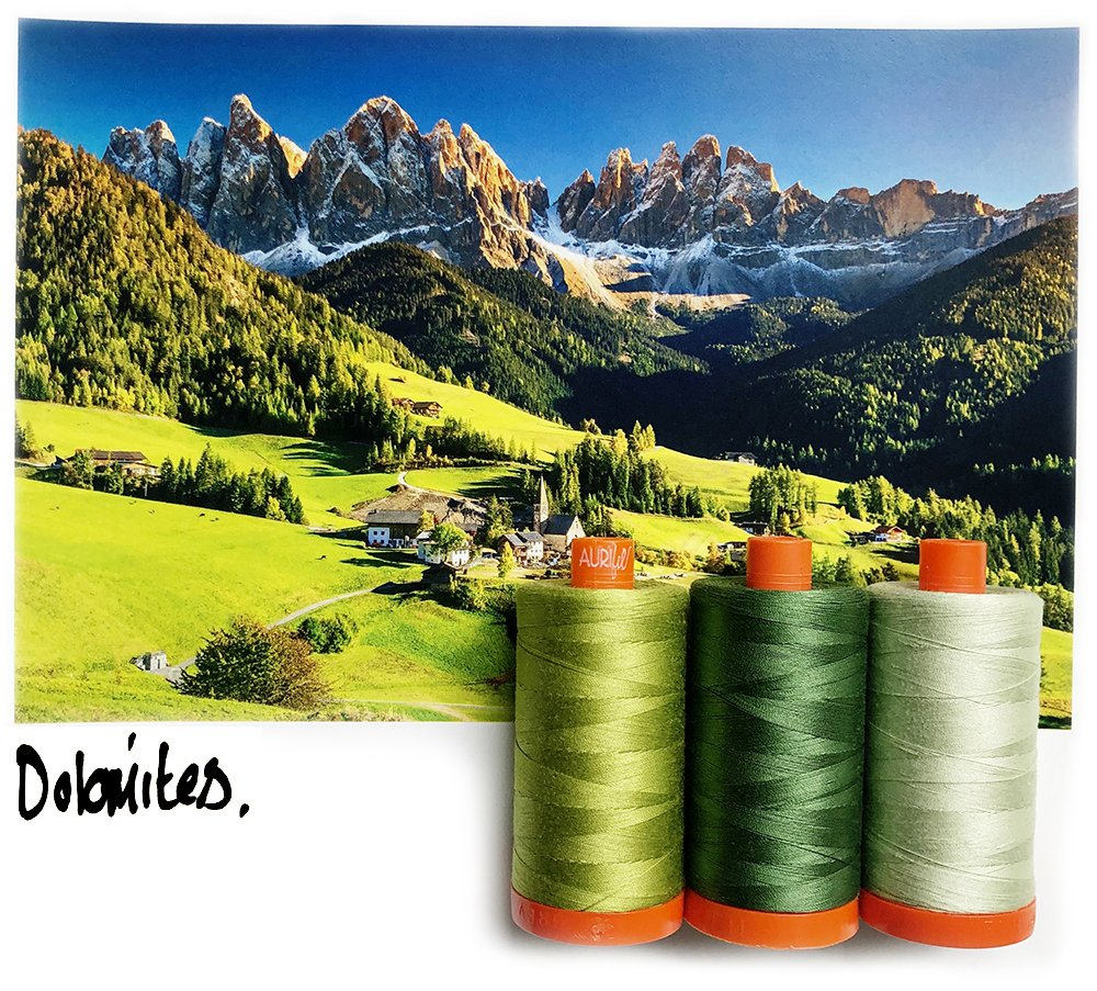 AURIFIL COLOR BUILDER DOLOMITE GREEN
