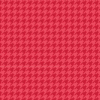 KIMBERBELL BASICS HOUNDSTOOTH RED TONAL