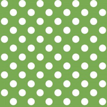 KIMBERBELL BASICS GREEN WHITE DOTS