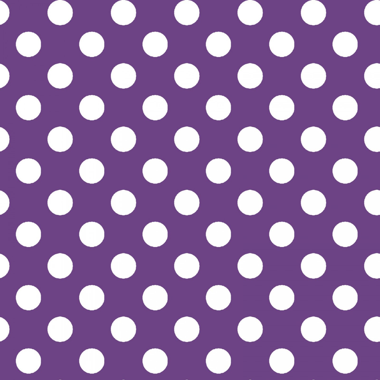 KIMBERBELL BASICS PURPLE WHITE DOTS