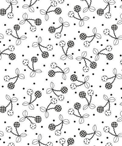 KIMBERBELL BASICS BLACK/WHITE CHERRIES