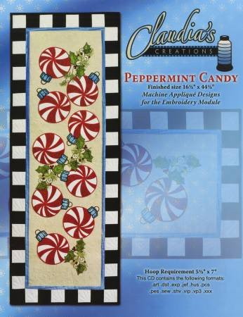 PEPPERMINT CANDY APPLIQUE EMB PATTERN