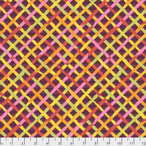 KAFFE FASSETT MAD PLAID MAROON