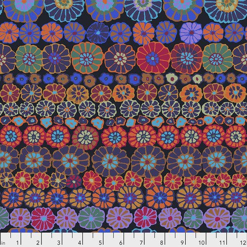 KAFFE FASSETT ROW FLOWERS DARK