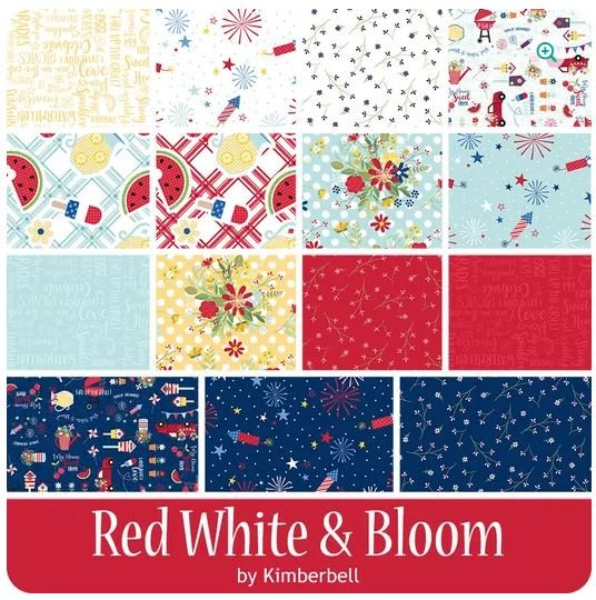 RED, WHITE & BLOOM FQ BUNDLE (15FQ & 1 PANEL) KIMBERBELL
