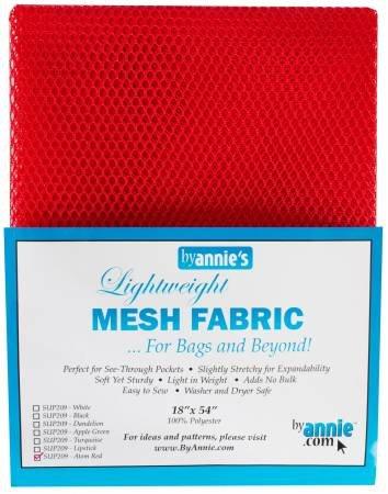 MESH FABRIC RED LTWGT BYANNIE