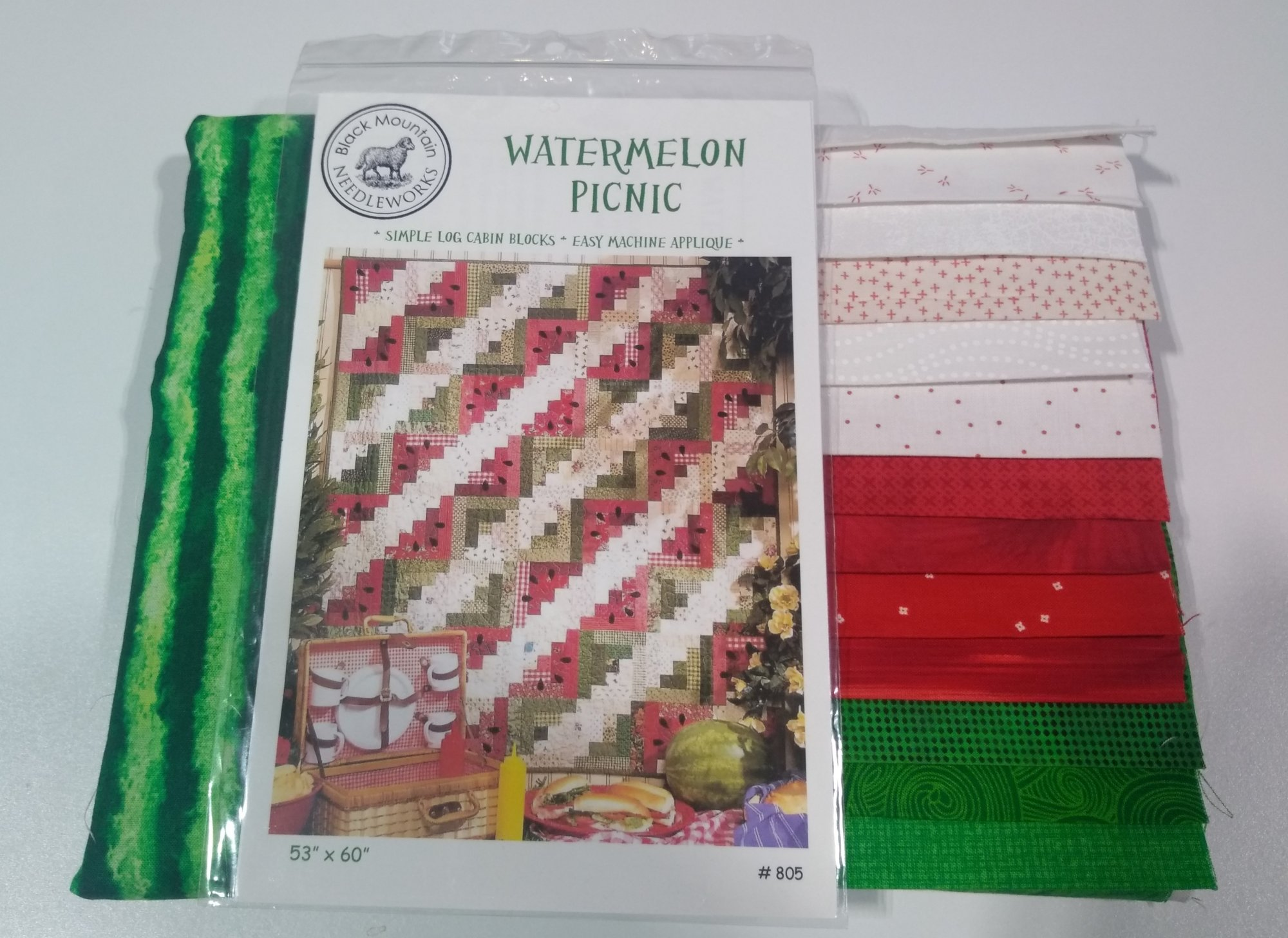 WATERMELON PICNIC QUILT KIT (PATTERN & BINDING INCLUDED)