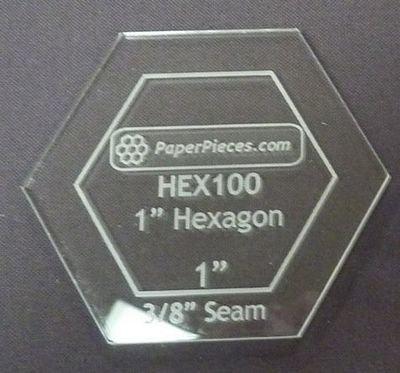 HEXAGON 1 ACRYLIC FABRIC CUTTING TEMPLATE