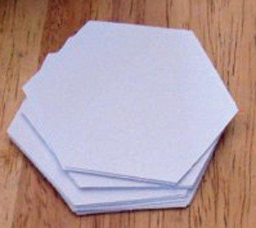 PAPER PIECES HEXAGONS 1-1/4 SMALL PK 75 PCS