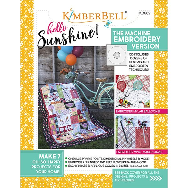 Kimberbell Hello Sunshine! Machine Embroidery CD with Book
