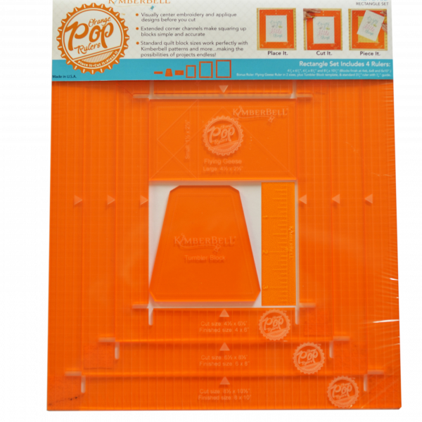 Kimberbell Orange Pop Rectangle Rulers