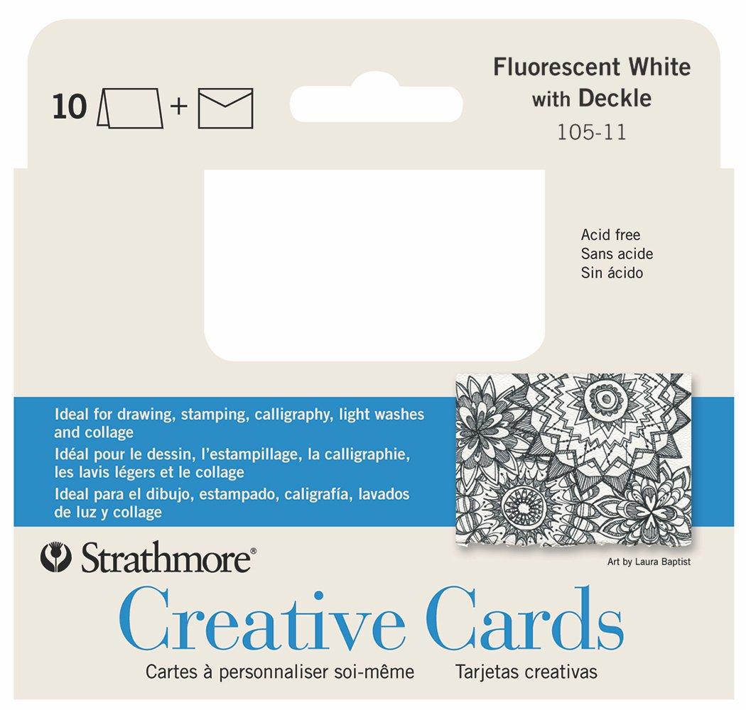 CARD FLO WHT/DCKL 10PK ANNC